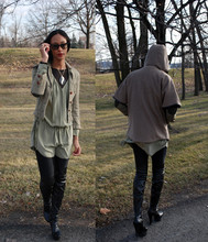 Jessie 77 - Dkny Jacket, Aritzia Dress - Nature Girl