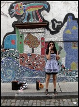 Camila Scarinci - Complot Dress, Sandals, Ray Ban Rainbow Ray Bans - L-O-V-E's just another word I never learned to pronounce
