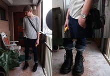 Fredrik Berg - Weekday Shirt, Weekday Chinos, Vintage Compass, Dr. Martens Boots - 1