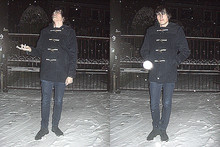 Alessandro B - Farah Vintage Duffle Coat, Cheap Monday Skinny Jeans, Clarks Desert Boots - A snowflake fell (and it felt like a kiss)