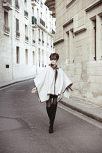 Louise Ebel - Zara Cape, Topshop Boots - Pont Marie.