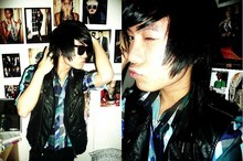 Dany Doan - Ny Leather Vest, H&M Shirt, Sunglasses, Black Jeans - Funny is my second name