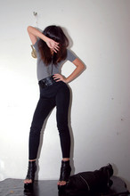Jeannie Lee - Cotton On Bodysuits, Tony Bianco, Zipper, Black Leggings - Im 21