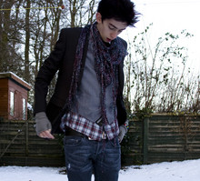 Not Nothing - Tie, Jeans, Jacket, Gloves, Metal Scarf, Bad Hair, Second Hand Waistcoat, Plaid Shirt - Winter Beware