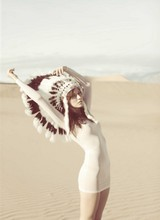 Ania B - American Apparel Apparel, Sheer Dress, Ebay Win - Death valley, california