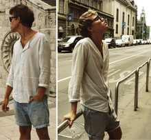 Andreas Wijk - Levi´S Jeansshorts, Mtwtfss Shirt - I want those summer days back. http://blogg.veckorevyn.com/andreasstil