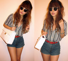 Trixia S - Vintage Striped Blouse, Chanel Bag - You Really Got a Hold on Me