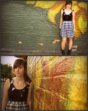 Caitlin Marie - Urban Outfitters Ruffle Tank, Urban Outfitters Skirt - It grows like fancy flowers, but it grows nowhere.