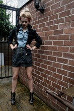 Chloe Waugh - H&M Denim Shirt, H&M Button Front Skirt, Flower Beaded Headband - Oh darling, i'll kiss your eyes