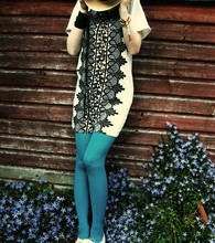 Emily L - Topshop Tunic, M&S Opaque Tights, Mums Old Little White Dancing Shoes - But it might be hard to handle