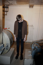 Fredrik Berg - Hope Cardigan, Weekday T Shirt, Weekday Jeans, Dr. Martens Boots - 2