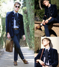 Alexandre Martinez - Vintage Jacket, Zara Oxford Shoes, Vintage Bag - Rococo inspiration.