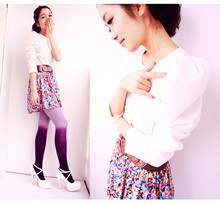 Jane Tse - H&M Top, Forever 21 Skirts, Socks, Local Brand From China Shoes - Shiere