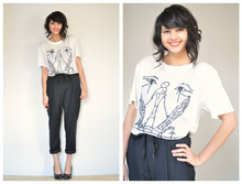 Annabel Ly - Acne Studios Graphic Tee, Acne Studios Wool Trousers - Acne acne acne