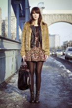 Dagmara R - H&M Boots, Zara Bag, Topshop Skirt, Bershka Vest - My face looks weird here