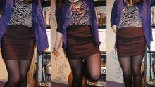 Hannah L - Joy Division Dress, H&M Body Con Skirt, Topshop Skirt, Primark Tights - Hello there