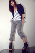 Jeannie Lee - Vintage Blue Uniform, Agent Ninetynine Stripes, Grey - Boy