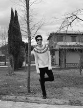 Mr Buruxu - Persol Sunglasses, Sfera Jersey, April 77 Jeans, Levi's® Boots - Village