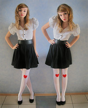 Cranberry Fi - Vintage + A Lot Of Diy, Diy Tights - Bad valentine