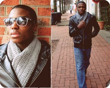 Derrick Devonn - Eklecktic Funk Boutique Scarf, Forever 21 Leather Jacket, Vans Shades, Levi's® Jeans - Forget all your troubles , forget all your cares & go downtown .