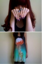 Wends Ma - Christopher Kane Tank Dress, Mouse Skull Ring, Mystic Ring - Rayleigh–Taylor instability