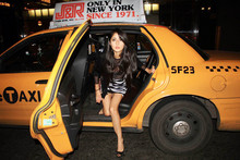 Denni Elias - American Apparel Mesh Dress, H&M Zebra Skirt, Forever 21 F21 Wallet, Favorite Taxis. - Le Taxi