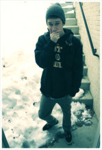 Cody Littlefield - Vans Jacket, Krew Khaki Jeanish Pants., Boston Bruins Hoodie - Not so classy