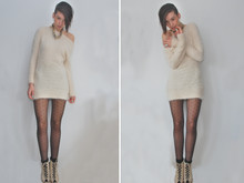 Ilanka Verhoeven - Own Statement Necklace, Queenswardrobe Knitted Dress, H&M Dotted Tights, H&M Socks, Blanco Shoes - Soft touch..