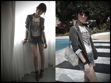 BoboStephanie Siow - Urban Outfitters Blazer, Forever 21 Top, Chanel Jumbo Flap - I was in Miami Trick.