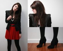 Jade Elise - Steve Madden Heels, Forever 21 F21 Jacket And Necklace, Selfmade Skirt - Corrected