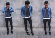 Perry Kwong - Uniqlo Grey Socks, Levi's® Vintage Denim Jacket, H&M Grey Sweater, Ck Pants, Yves Saint Laurent Ysl Shoes - Comeback//Denim