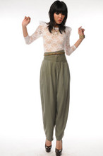 Nida Elizabeth - Lace Sharp Shoulder Top, Vintage Pants, Yves Saint Laurent Ysl Tribute Pumps - Ok, I'm back