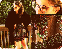 Archer Bee - Forever 21 Paisley Dress, Vintage Wool Sweater, Vintage Purple Glasses - Feeling fenced in