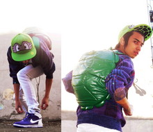 "Denny Balmaceda - Hot Topic Ninja Turtle Backpack, J.Crew Cosby Cardigan, Nike High - "" Child's Play """
