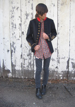 Cruz V. - Antique Cavalry Jacket, Cheap Monday Jeans, 50s Rain Boots - After A Rainy Sunday