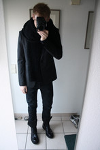 David ****** - Girlfriends Granny Scarf, Raf Simons Blaser, Helmut Lang Jeans (Finished With Base), Kris Van Assche Boots -  meeting