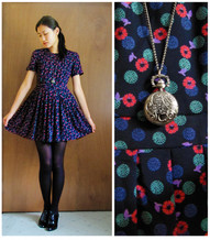Michelle Louissant - Alice In The Eve Golden Child Dress, Markets Pocketwatch, Lace Up Ankle Boots - Alice in the eve