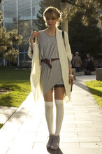 Liz Sampson - Riller & Foust Mako Dress, Jeffrey Campbell Wedge, Modcloth Sweater - Simple Shades
