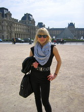 Anna W - American Apparel Circle Scarf, Zara Studded Belt, Vintage Leather Jacket - Last spring in Paris