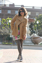 Jennine Jacob - Vintage Coat, Vintage Rose Dress, Betsey Johnson Lace Detail Tights, Jeffrey Campbel 3strap Mary Janes - Reel around the fountain