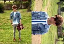 Ramon Miron - Levi's® Denim, Vintage Sailor, Vintage Leather Portfolio, H&M Skinny - Bye Cold.