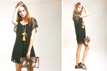 Clara S. - Dress, New Look Shoes, Vintage Necklace - Hollywood infected your brain