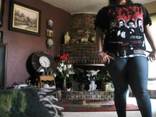 Jenn Lennon - Hot Topic The Clash Band Shirt, Hot Topic Studded Belt, Angel Skinny Jeans - Rock The Casbah