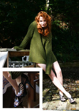 Marina Baranova - Sweater, Another Fav Heels - Hubbby's sweater