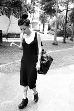 Tammy Tay - Diy Studded Bra, Black Dress, Sling Bag, Yummy Lollipop Hehe, Wedges - Black Out