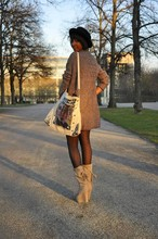 Michelle G. - Wedges., Tights., Cardigan., Hut., Bag. - I don't know how this is possible but I'll find out