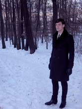 Vitezslav I. - Sasch Wool Coat, Cheap Monday Skinny Jeans, Rodolpho Armando Leather Booties, H&M Leather Gloves, Sasch Rabbit Fur Collar, H&M Skinny Tie - Winter in the forests...