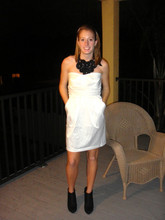 Katie M - Dress, Shoes, Forever 21 Necklace - Black&White