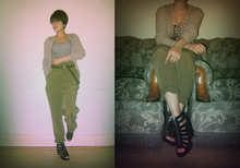 Helina Varma - Zara Cardigan, American Apparel Leotard, Zara Trousers, H&M Wedges - CAGED FEET