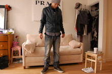 Koa Pennock - Creative Recreation Ponti Sneaker, Prps Japanese Selvedge Denim, G Star Raw Leather Rider Jacket - Charming.